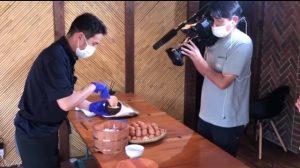 卵かけご飯のあさイチ撮影風景